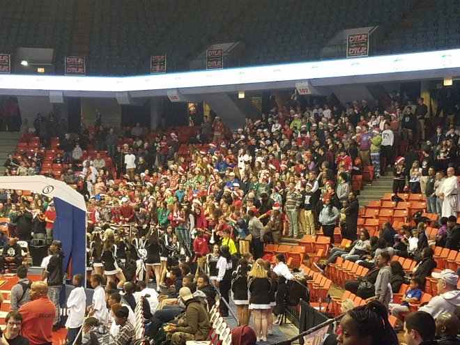 Fenwick students Dec 2nd at the UIC Pavilion.